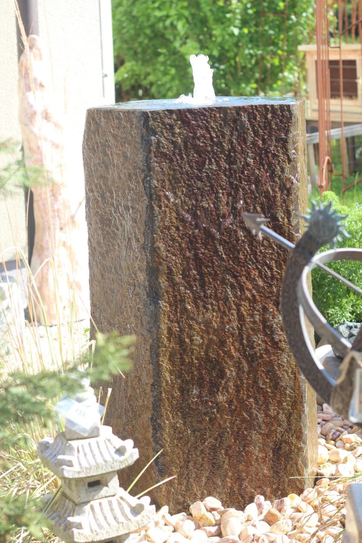 wasserspiel set quellstein basalt 100 mit quellschale inkl pumpe becken springbrunnen 1001000061. Black Bedroom Furniture Sets. Home Design Ideas