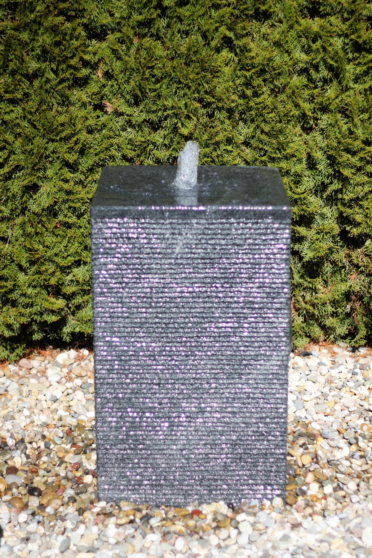 wasserspiel set granit s ule 80 springbrunnen inkl pumpe becken 1001000112. Black Bedroom Furniture Sets. Home Design Ideas
