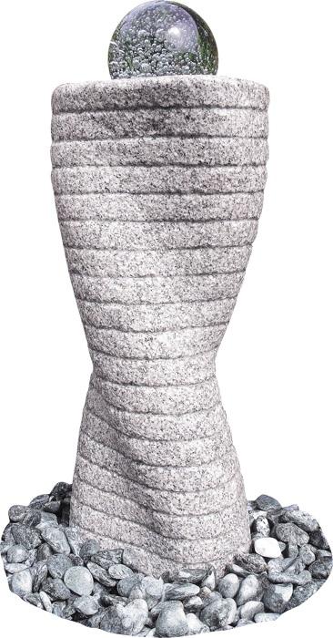 wasserspiel kpl set quellstein granit ovale s ule inkl. Black Bedroom Furniture Sets. Home Design Ideas