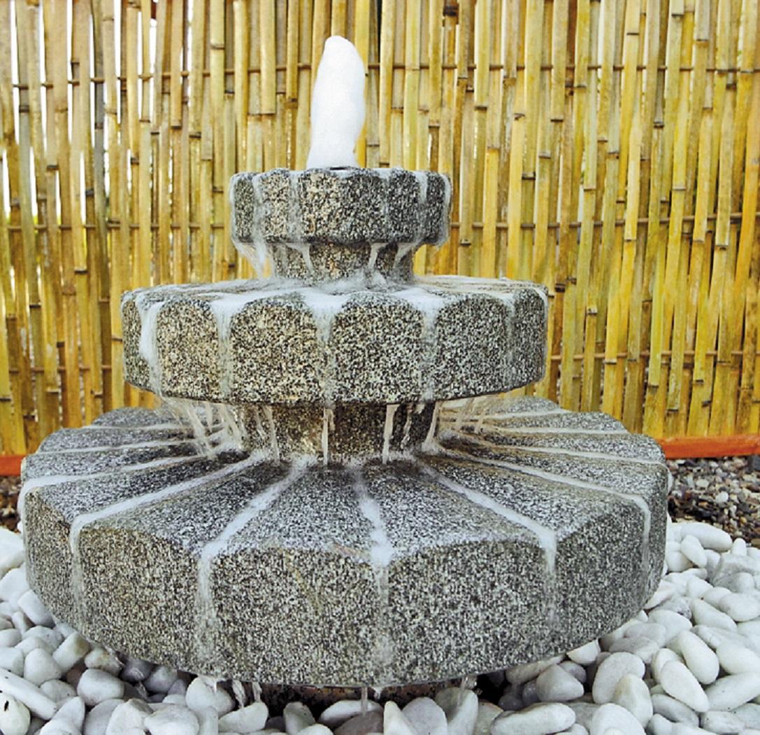 wasserspiel set quellstein brunnen zichi granit anthr. Black Bedroom Furniture Sets. Home Design Ideas