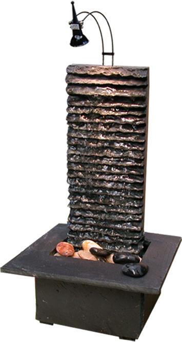Zimmerbrunnen lamelle black 38 feng shui schieferbrunnen - Zimmerbrunnen feng shui ...