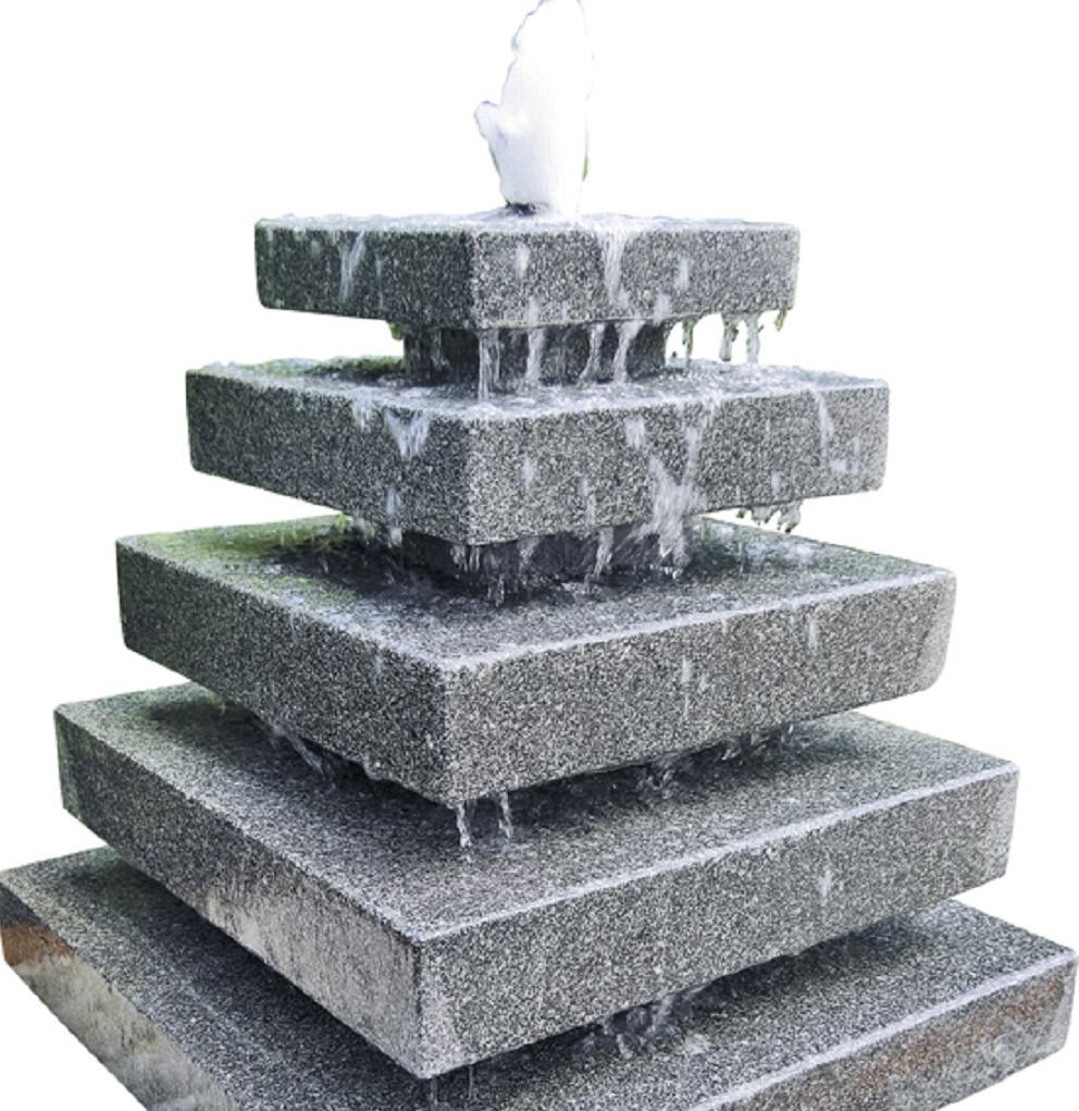 wasserspiel set quellstein granit pyramide gartenbrunnen. Black Bedroom Furniture Sets. Home Design Ideas