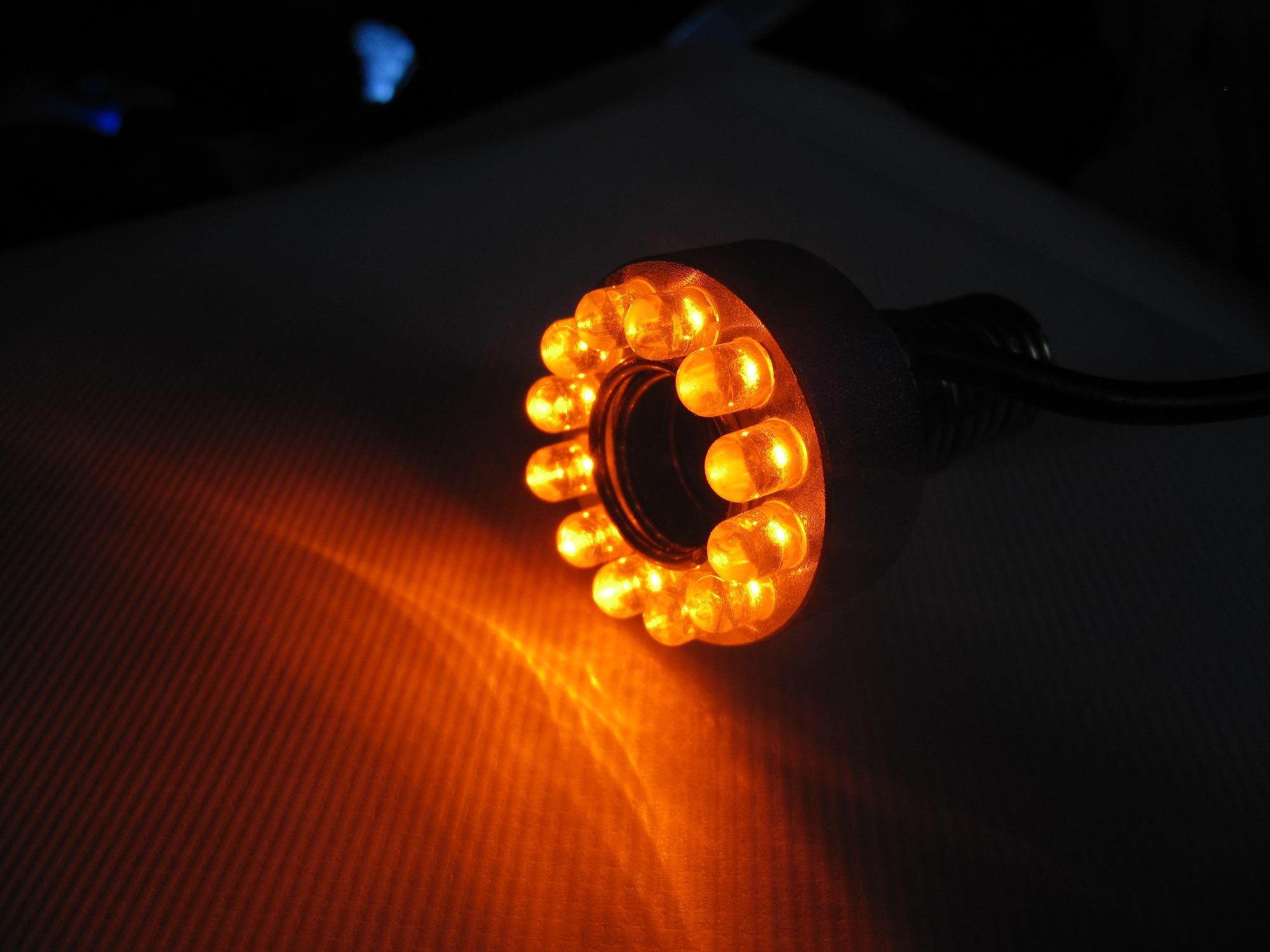 12er led ring amber beleuchtung f r wasserspiele zierbrunnen und quellsteine. Black Bedroom Furniture Sets. Home Design Ideas