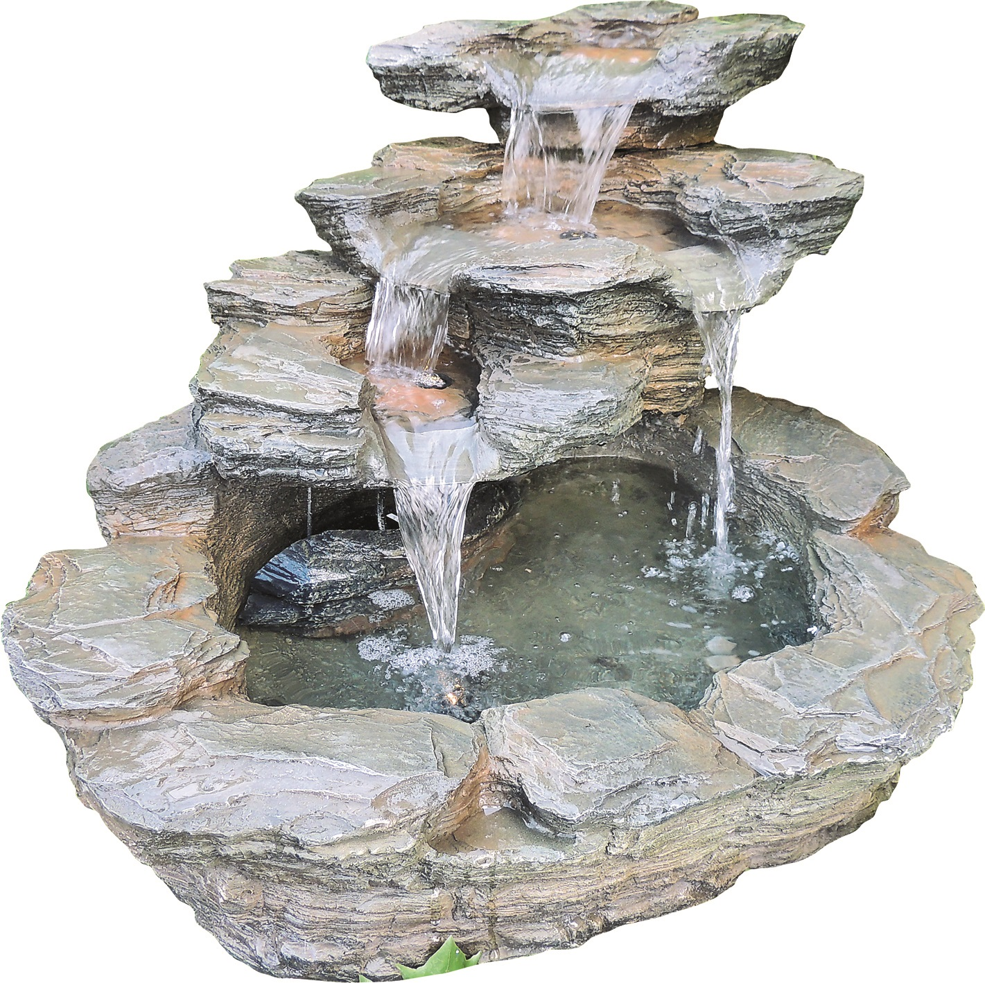 zierbrunnen zugo polystone wasserfall wasserspiel inkl. Black Bedroom Furniture Sets. Home Design Ideas