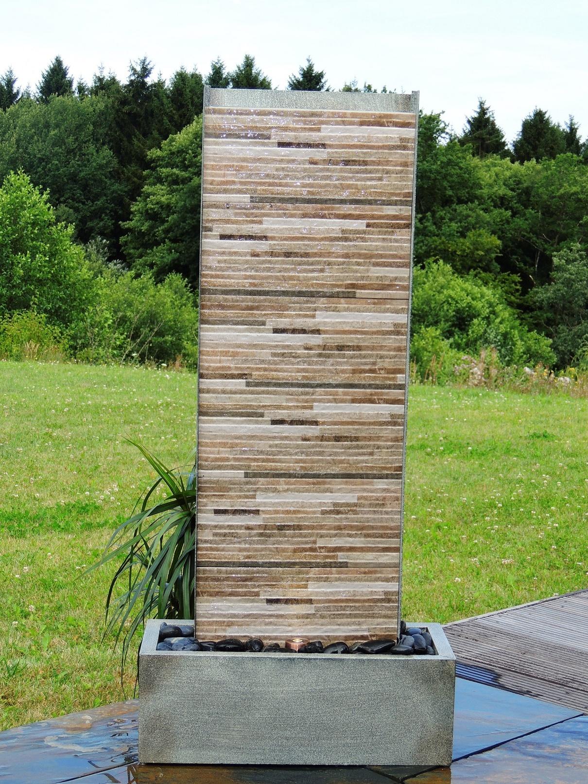 Zimmerbrunnen jinan 130 wasserwand luftbefeuchter brunnen inkl led ebay - Wasserwand wohnzimmer ...