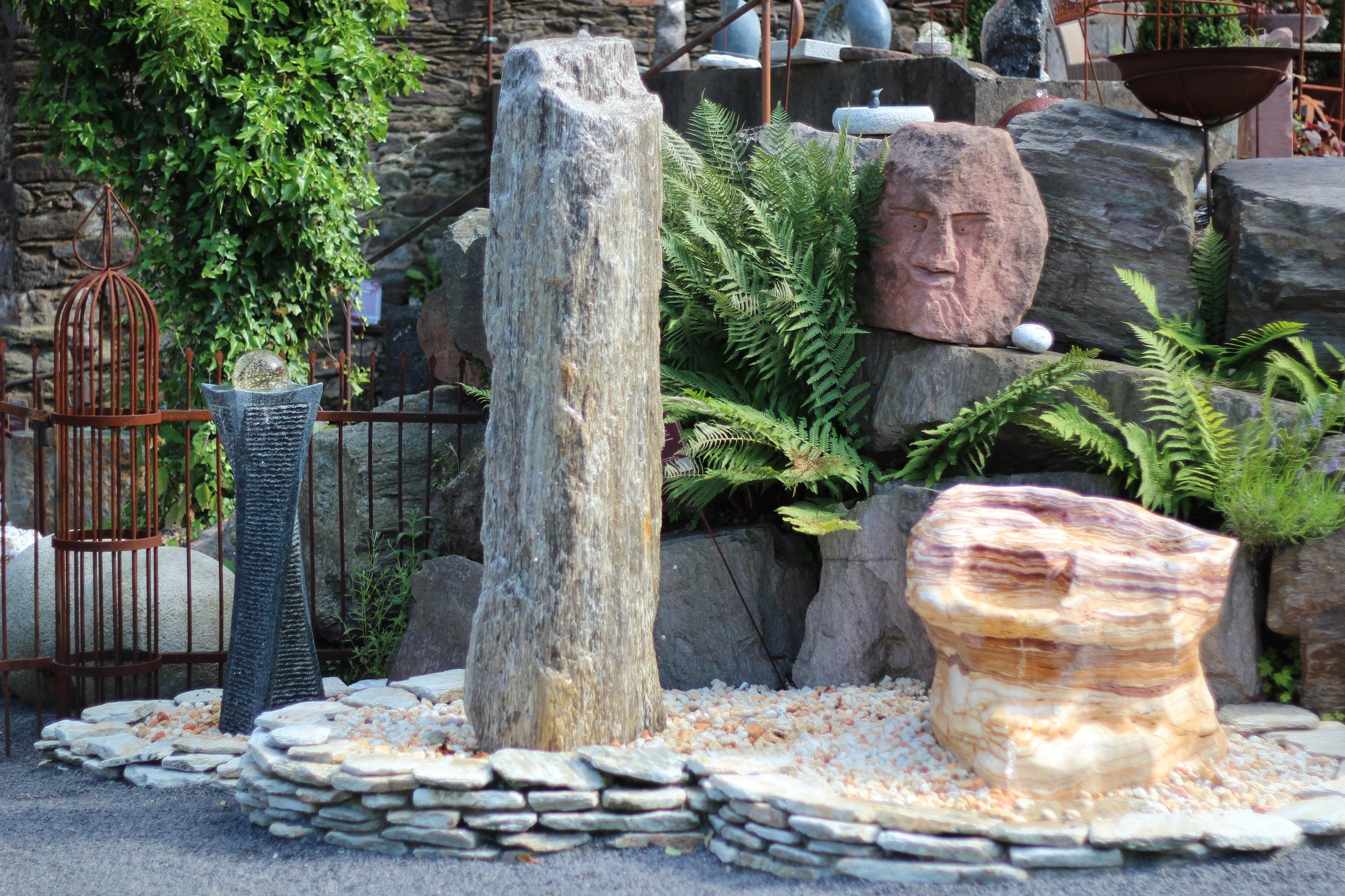wasserspiel kpl set quellstein granit s ule gedreht 75cm. Black Bedroom Furniture Sets. Home Design Ideas