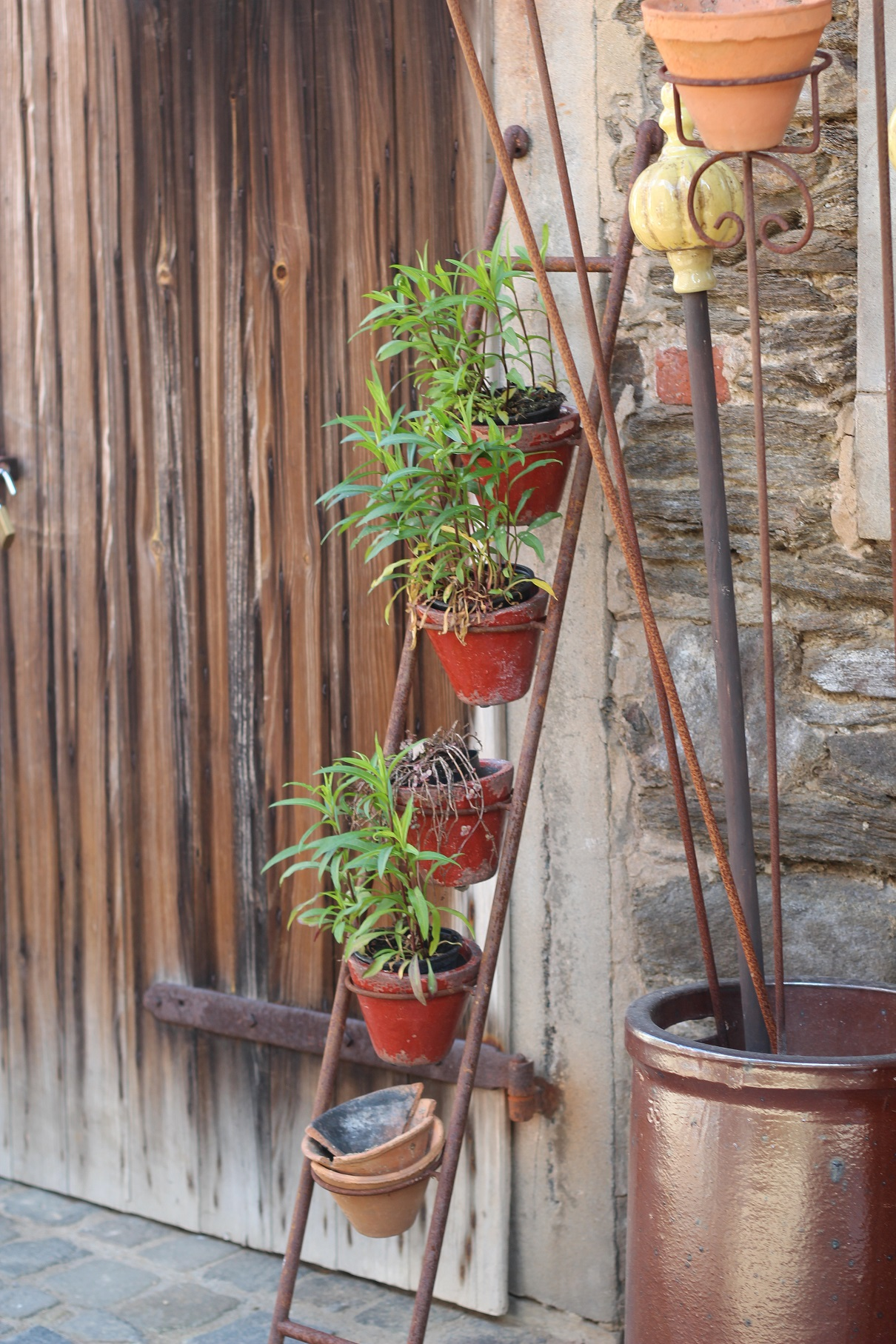 Topfleiter edelrost garten topfhalter shabby landhaus for Edelrost garten