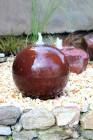 Wasserspiel SET Cortenstahl Kugel 40 inkl. Zubehör Springbrunnen Edelrost Design