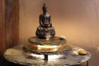 Zimmerbrunnen Kasumi Buddha | Feng Shui Schieferbrunnen inkl. Beleuchtung