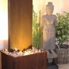 Zimmerbrunnen Cordon 180 Wasserwand Cortenstahl Edelrost-Design