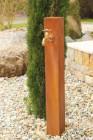 Zapfstelle Cordon inkl. Wasserhahn 100 | Cortenstahl Wasserstelle Gartenbrunnen