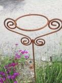 Topfhalter Edelrost 2 Ornamente Gartenstecker Rosenstab Shabby Landhaus Cottage & Vintage