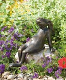 Hase Mads 30 Gartenfigur als Wasserspiel Bronze Wasserspeier Rottenecker