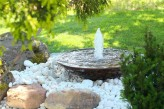 Cortenstahl Wasserschale 100 mit Fontäne Edelrost Springbrunnen Komplettset