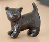 Bronzefigur Katze Luna 5cm | Bronze Skulptur Rottenecker