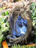 Zimmerbrunnen Moyu 35 cm Polystone Wasserfall inkl. Pumpe und LED Beleuchtung