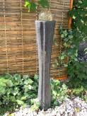 Wasserspiel SET Quellstein Säule Ming 120cm Granit Gartenbrunnen inkl. Pumpe