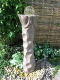Wasserspiel SET Quellstein Säule Trandore 110cm Granit Gartenbrunnen inkl. Pumpe
