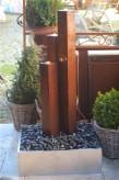 Wasserspiel SET Cordon 3er Säulen 120cm Cortenstahlbrunnen Edelrost Design