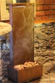 Zimmerbrunnen Cordon 90 Wasserwand Cortenstahl Edelrost Design