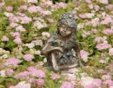 Bronzefigur Wiesenkind Herbst 12cm Gartenfigur Bronze Skulptur Rottenecker