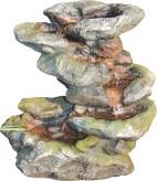 Zierbrunnen Xingbei 43 cm Polystone Wasserfall inkl. Pumpe und LED