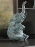Bronzefigur Indischer Elefant 24cm Bronze Skulptur Rottenecker