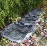 Bachlauf Rio mit Becken 3tlg. L230cm Polystone Schiefer Optik Bachlaufschalen