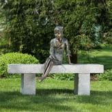 Bronzefigur Mädchen Berrit 48cm Gartenfigur Bronze Skulptur Rottenecker