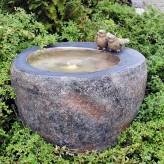 Wasserspiel Twist 48 Polystone Brunnen Basalt Optik inkl. Pumpe und LED