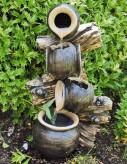 Alhambra Kaskade 55cm Polystone Wandbrunnen inkl. Pumpe