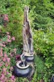 AUSSTELLUNGSSTÜCK - NUR ABHOLUNG! Taipei Wasserfall 115cm Polystone Brunnen Holzoptik inkl. Pumpe