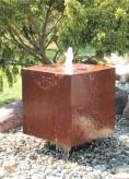 Cortenstahl Würfel 80 Schwebeoptik Gartenbrunnen Springbrunnen Komplettset