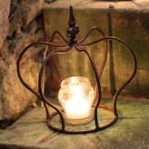 Krone Edelrost 24cm Eisen Dekokrone Pflanzkrone Shabby Cottage & Vintage