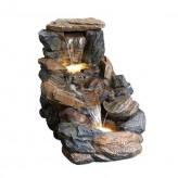 Wasserspiel Posito L81cm Polystone Bachlauf Gartenbrunnen inkl. Pumpe und LED