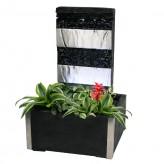 AUSSTELLUNGSSTÜCK - NUR ABHOLUNG! Zimmerbrunnen Figari Wasserwand inkl. Beleuchtung und Pflanzvorrichtung