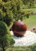 Cortenstahl Kugelbrunnen 50cm Edelrost Gartenbrunnen Springbrunnen Komplettset