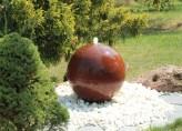 Cortenstahl Kugelbrunnen 40cm Edelrost Gartenbrunnen Springbrunnen Komplettset