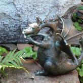 Bronzefigur Drache Drusilla 18 Bronze Gartenfigur Wasserspeier von Rottenecker