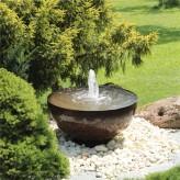 Cortenstahl Wasserschale Bowl 80 mit Fontäne Edelrost Gartenbrunnen Springbrunnen Komplettset