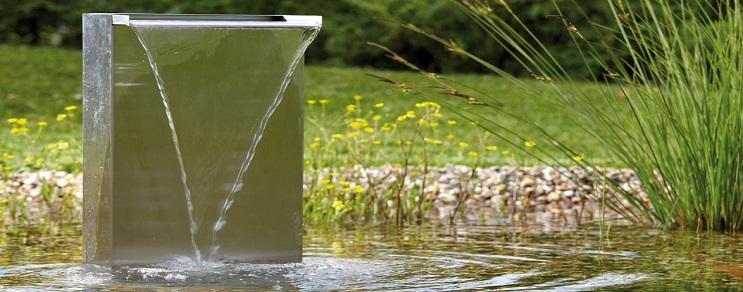 Wasserfall-Set in modernem Edelstahl-Design