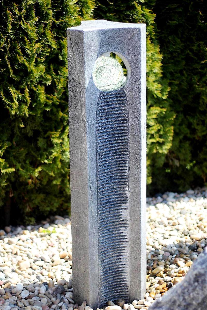 wasserspiel set quellstein joy 120cm granit gartenbrunnen. Black Bedroom Furniture Sets. Home Design Ideas