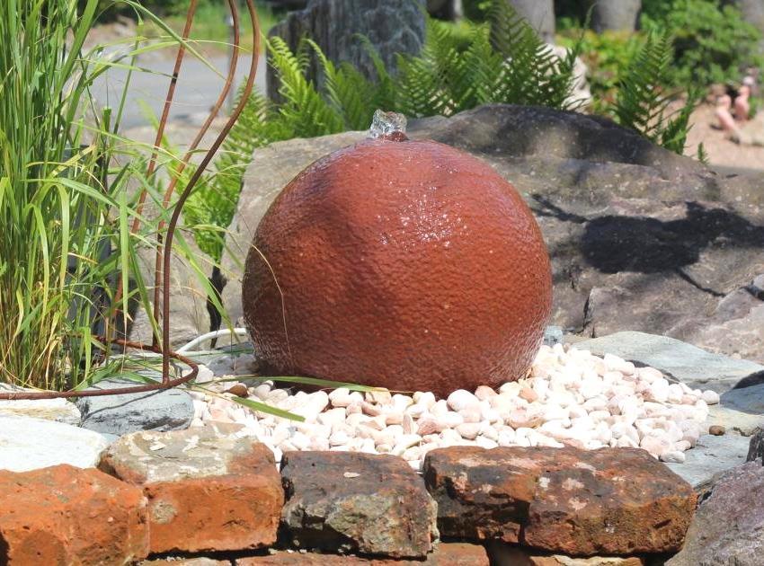 Wasserspiel SET Quellstein Sandstein Kugel 50 Gartenbrunnen ...