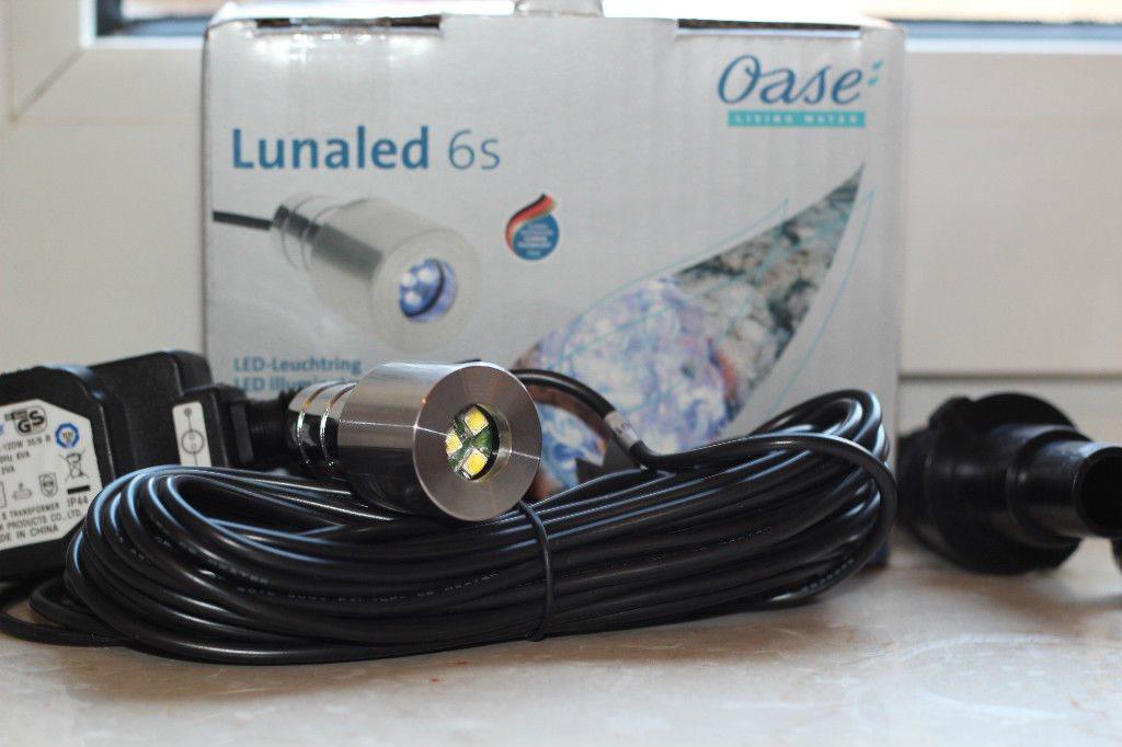 3er set oase lunaled 6 s 6 led wei beleuchtung quellstein 86453. Black Bedroom Furniture Sets. Home Design Ideas