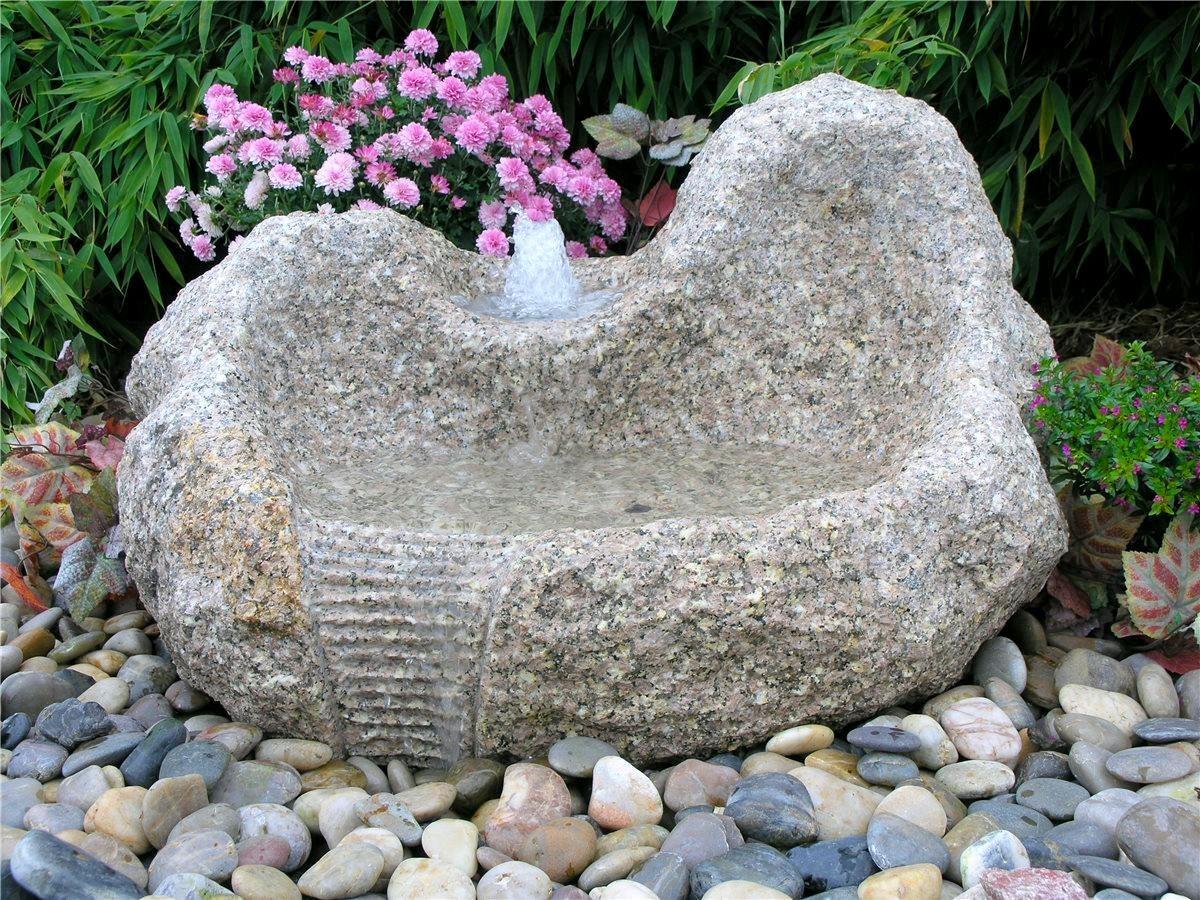 wasserspiel set quellstein yuan l80cm granit gartenbrunnen. Black Bedroom Furniture Sets. Home Design Ideas