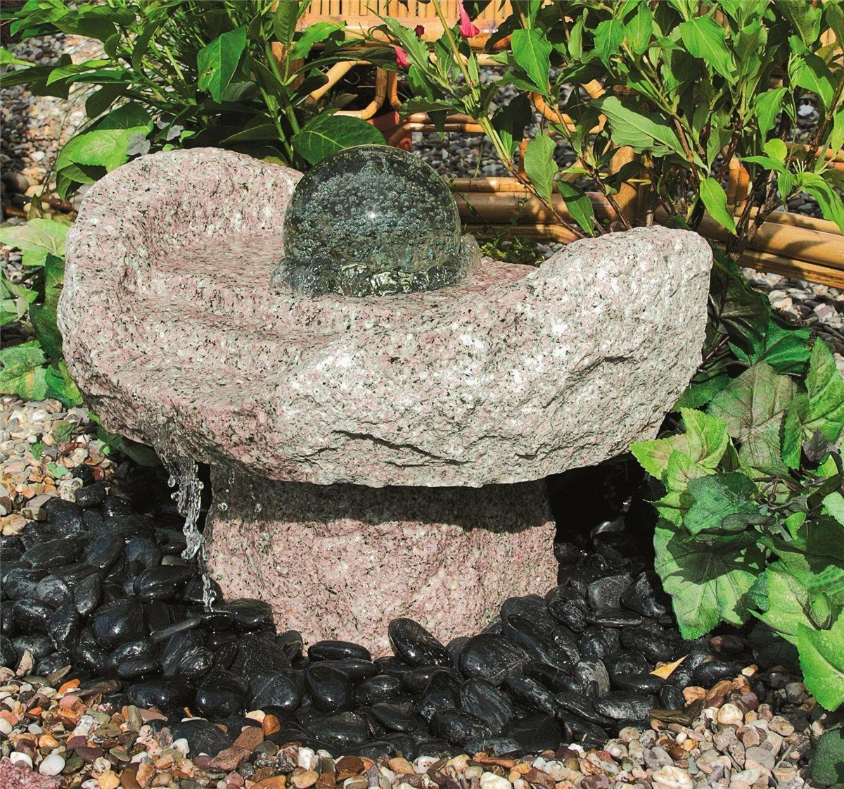 wasserspiel set quellstein niagara wasserfall 50cm granit. Black Bedroom Furniture Sets. Home Design Ideas