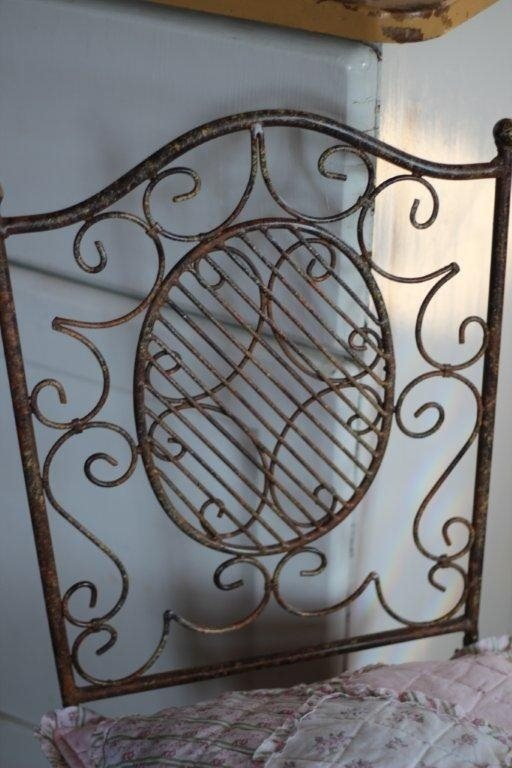 stuhl eisen antik patiniert gartenm bel shabby landhaus vintage 18944. Black Bedroom Furniture Sets. Home Design Ideas