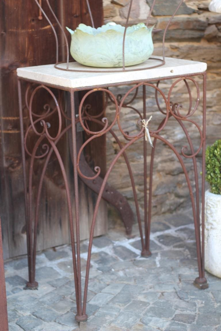 vintage eisentisch edelrost 60x40 shabby landhaus. Black Bedroom Furniture Sets. Home Design Ideas
