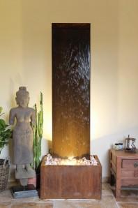 Zimmerbrunnen Cordon 180 | Feng Shui Brunnen Cortenstahl Wasserwand
