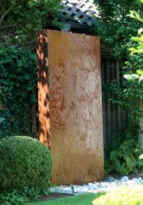 Wasserspiel SET Cortenstahl Wasserwand 200 Edelrost Gartenbrunnen Springbrunnen